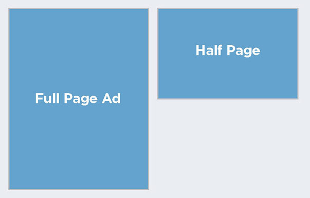 Full Page-Half Page Advertising Options